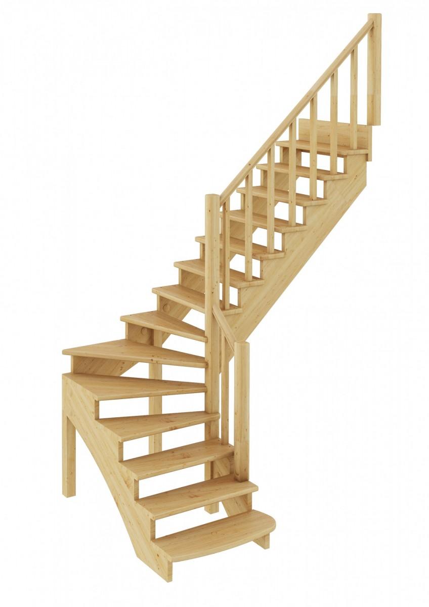 Лестница   К-001м/2  П  сосна (6 уп)
