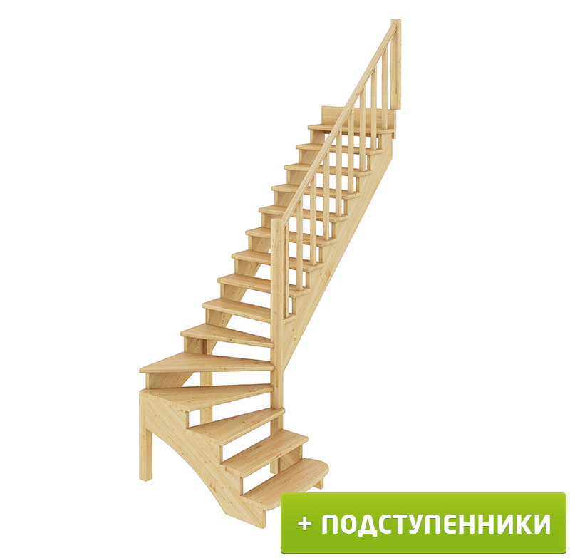 Лестница   К-001м/3 П c подступенками сосна (6уп)